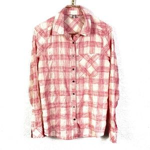 BKE Buckle Eased Button Up Plaid Shirt